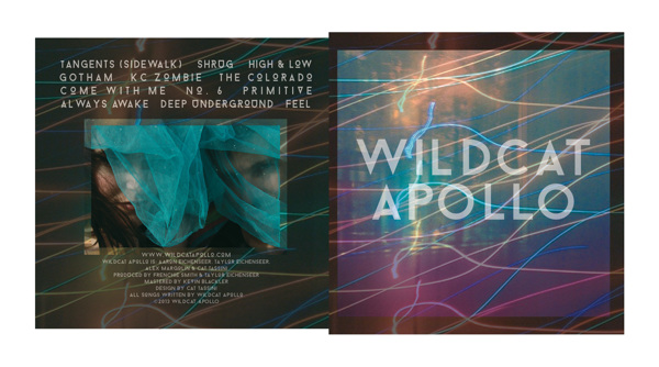 Album art designed in Photoshop for Wildcat Apollo's self-titled debut album. See the 3-D proof here.